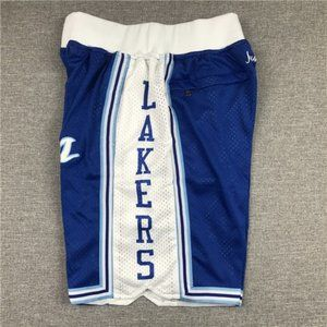 La Lakers Just Don Shorts NBA Basketball Shorts bl